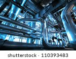 equipment  cables and piping as ... | Shutterstock . vector #110393483