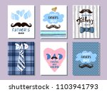 happy father's day. collection... | Shutterstock .eps vector #1103941793