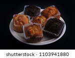 fluffy muffins with... | Shutterstock . vector #1103941880