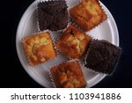 fluffy muffins with... | Shutterstock . vector #1103941886