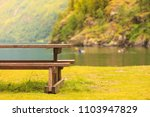 Picnic Site Wooden Table And...