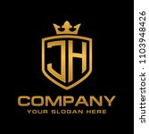 letter jh initial logo  luxury... | Shutterstock .eps vector #1103948426