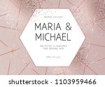 elegant pink gold glitter and... | Shutterstock .eps vector #1103959466