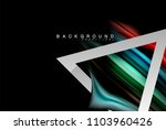 liquid fluid colors holographic ... | Shutterstock .eps vector #1103960426