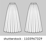 floor length flared skirt with... | Shutterstock .eps vector #1103967329