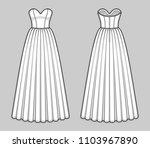 floor length corset bodice... | Shutterstock .eps vector #1103967890