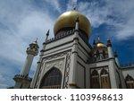masjid sultan or sultan mosque... | Shutterstock . vector #1103968613