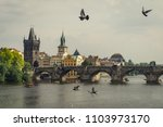 panoramic view of famous... | Shutterstock . vector #1103973170