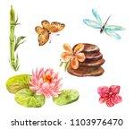 set of feng shui symbols.... | Shutterstock . vector #1103976470