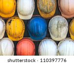 old and worn colorful... | Shutterstock . vector #110397776