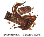 milk chocolate flavor with... | Shutterstock .eps vector #1103984696