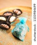 cash rewards. a concept. bag of ... | Shutterstock . vector #1103984699