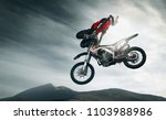 moto freestyle. extreme | Shutterstock . vector #1103988986