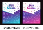 back to school information... | Shutterstock .eps vector #1103990483