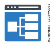 web layout  vector icon
