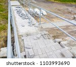 construction of a ramp for... | Shutterstock . vector #1103993690