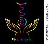 karuna reiki. energy healing....   Shutterstock .eps vector #1103994758