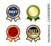 ribbons award best seller set.... | Shutterstock .eps vector #1104000800