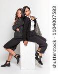 girls lady women posing in...   Shutterstock . vector #1104007583