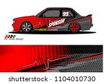 race car livery graphic vector... | Shutterstock .eps vector #1104010730