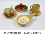 cottage cheese with vegetables  ... | Shutterstock . vector #1104014549