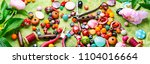 beads  colorful beads for... | Shutterstock . vector #1104016664