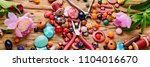 beads  colorful beads for... | Shutterstock . vector #1104016670