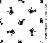 black cat pattern repeat... | Shutterstock . vector #1104018236