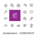 self and personal care icons....