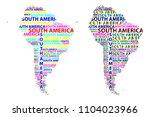sketch south america letter...   Shutterstock .eps vector #1104023966