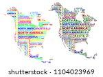 sketch north america letter... | Shutterstock .eps vector #1104023969