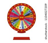 casino wheel icon. flat... | Shutterstock . vector #1104027209