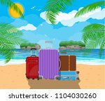 modern and vintage travel bag... | Shutterstock . vector #1104030260
