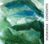 great green watercolor... | Shutterstock . vector #1104036953
