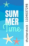 sea vacation. summer background....   Shutterstock .eps vector #1104037298