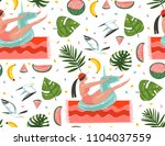 hand drawn vector abstract... | Shutterstock .eps vector #1104037559