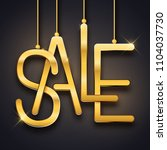 sale advertisement  realistic... | Shutterstock .eps vector #1104037730