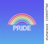 neon lgbt pride sign  glowing... | Shutterstock .eps vector #1104037760