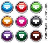 tshaped crossroad set icon...   Shutterstock . vector #1104040586