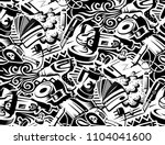 tools for vinyl film pasting of ... | Shutterstock .eps vector #1104041600