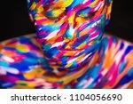 portrait of the bright... | Shutterstock . vector #1104056690