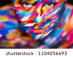 portrait of the bright... | Shutterstock . vector #1104056693