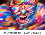portrait of the bright... | Shutterstock . vector #1104056696