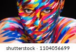 portrait of the bright... | Shutterstock . vector #1104056699