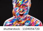 portrait of the bright... | Shutterstock . vector #1104056720
