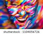portrait of the bright... | Shutterstock . vector #1104056726