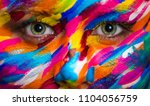 portrait of the bright... | Shutterstock . vector #1104056759