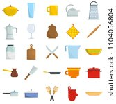 kitchenware tools cook icons... | Shutterstock . vector #1104056804