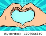 Gesture With Hands Heart. Comic ...