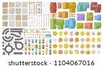 vector set. autumn city... | Shutterstock .eps vector #1104067016